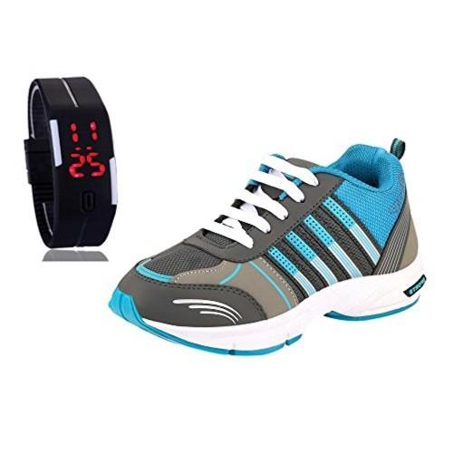 Chevit Chevit Men's COMBO Blue Running Shoes With LED Watch Bracelet