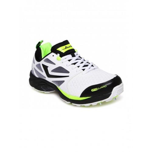 9cbb57935aac Buy Jazba Men White Skydrive 117 Cricket Shoes online | Looksgud.in