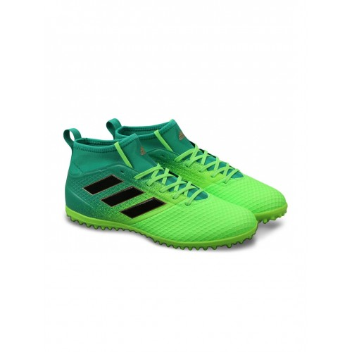 ... Adidas Men Green Ace 17.3 Primemesh FG Mid-Top Indoor Football Shoes ...