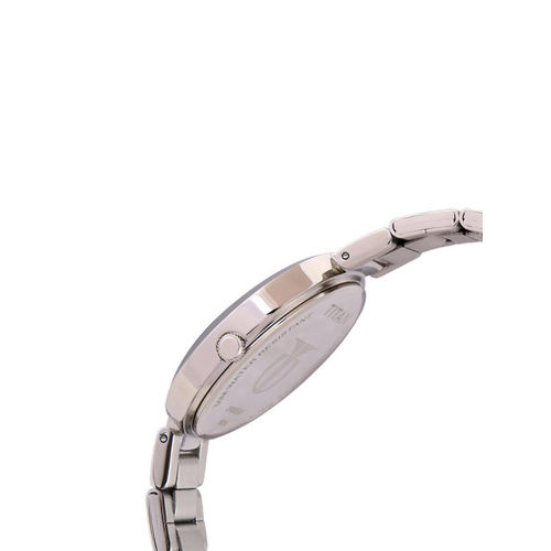 Titan 2480SM07 Round Stainless Steel Analogue Watch