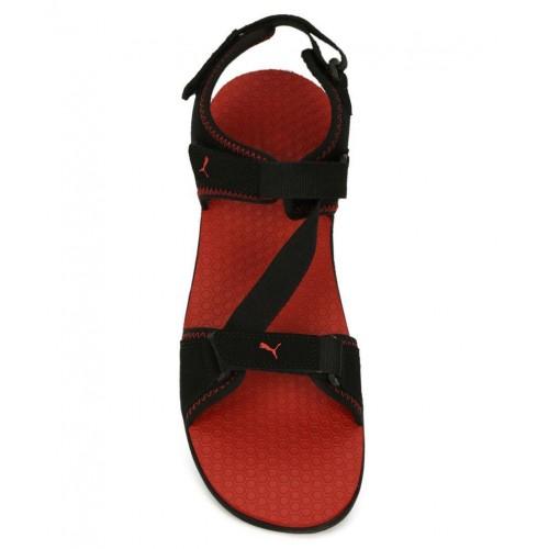 Buy Puma Royal IDP Black Floater Sandals online  dbfbe9dd4544