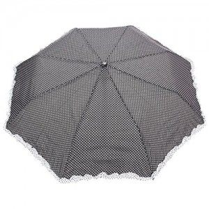 FabSeasons FabSeasons Dot Printed with frills, 3 fold fancy Automatic Umbrella for Rains, Summer & All Year Use