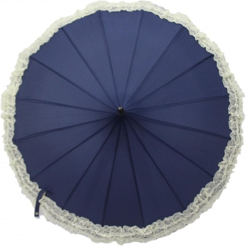 DesiCult Pagoda Lace Navy Blue Umbrella