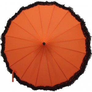 DesiCult Pagoda Lace Neon Orange Umbrella