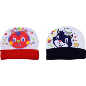 Multi Color Cotton Printed Casual Cap-Pack Of 2