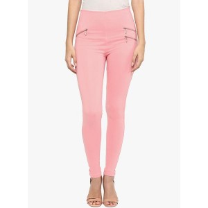 Sakhi Sang Pink Solid Jeggings