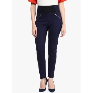 Sakhi Sang Navy Blue Solid Jegging
