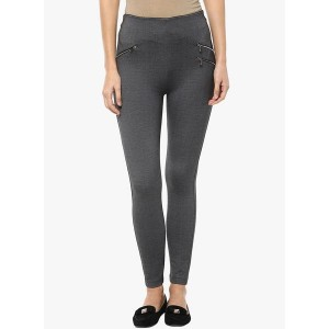 Sakhi Sang Dark Grey Solid Jeggings