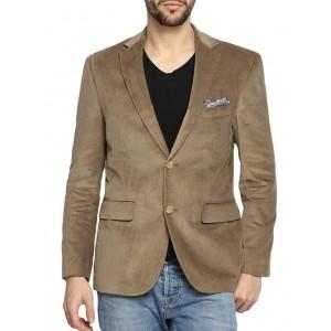 suitltd brown velvet casual blazer