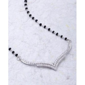 Voylla Black Beaded Chain Mangalsutra For Women
