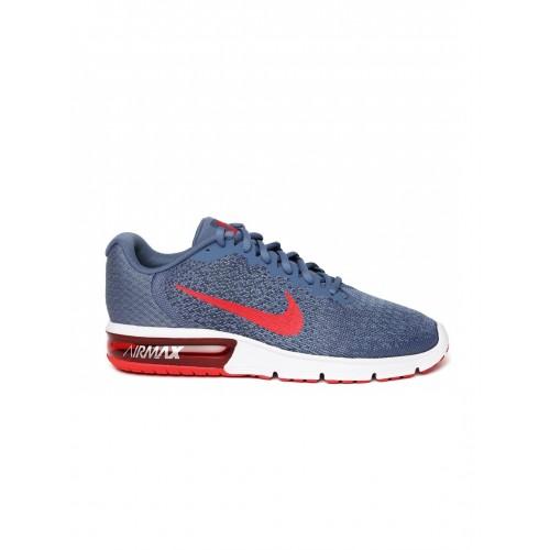 buy nike men blue air max sequent 2 running shoes online. Black Bedroom Furniture Sets. Home Design Ideas