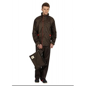 Versalis Dark Brown Solid Polyester Rainsuit