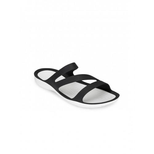 Crocs Black Croslite Casual Slip on Chappal