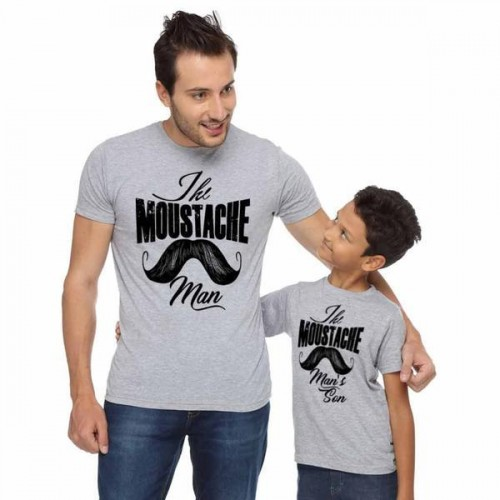40710440 Buy Gray Cotton Printed Slim Fit Father & Son Casual T-Shirts online ...