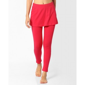 AJIO Coral Solid Cotton-Stretch Ankle Skeggings