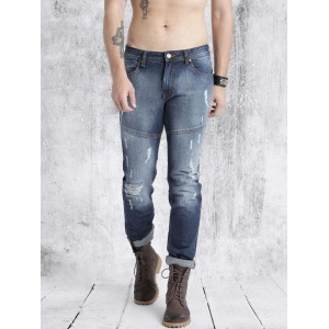 Roadster Blue Cotton Denim Slim Fit Jeans