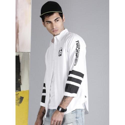 b44f237c37df5 Buy Kook N Keech Star Wars Men White Solid Regular Fit Casual Shirt ...