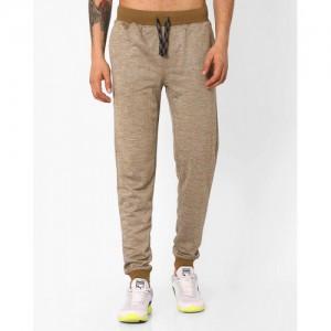JOHN PLAYERS Brown Cotton Slim Fit Track Pant