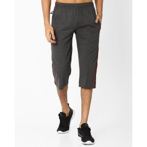 Playboy Gray Cotton 3/4th Lounge Pants