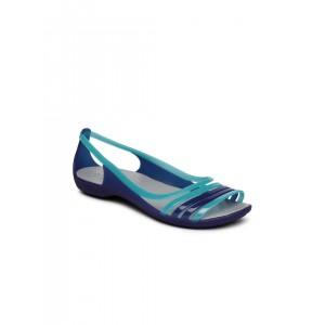 8fbde3f70514 Crocs Women Blue Colourblocked Open-Toed Flats