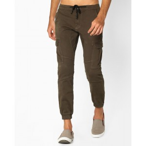 DNMX Cargo Joggers with Drawstring Fastening
