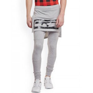 FUGAZEE Men Grey Slim Fit Layered Joggers