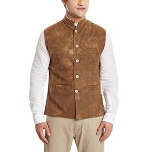 Sobre Estilo Sobre Estilo Men's Banded Collar Wool Jacket