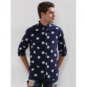 Blue Saint  Polka Dot Button Down Shirt