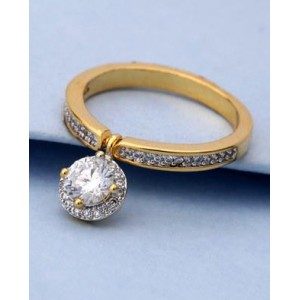 Voylla CZ Studded Cocktail Style Ring For Women