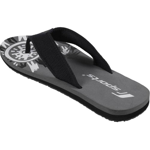 e434b5be5e22a6 Buy F Sports Black Flip Flops online