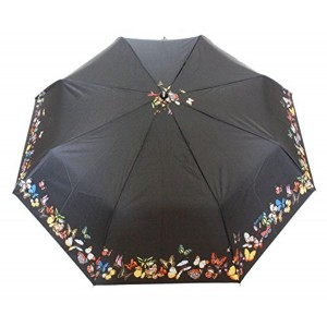 Sun Umbrella Sun Brand Butterfly Border Print 3 Fold - UV Protection Umbrella