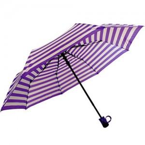 Sun Umbrella Sun Brand Stripes Purple/White - 3 Fold Umbrella