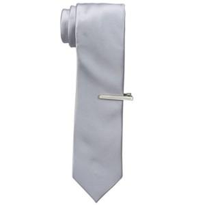Van Heusen Silver Solid Woven Tie