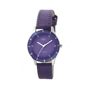 313f22536 Watch Me Watch Me Purple Dial Purple Leather Strap Watch for Girls WMAL-241
