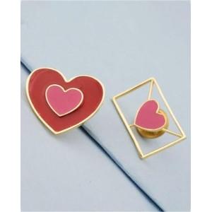 Voylla Brooch Pair In Heart Design