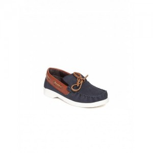 Arden by Knotty Derby Navy Blue Synthetic Leather Boat Shoes