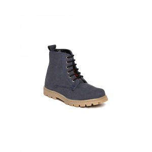 Arden by Knotty Derby Navy Artificial Leather Lace Up Boots