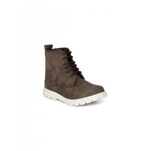 Arden by Knotty Derby Dark Brown Textured Boots