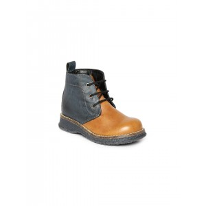 Arden by Knotty Derby Tan Brown & Navy Textured Boots