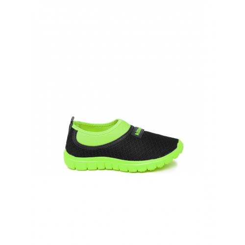 Kittens Black & Green Running Shoes