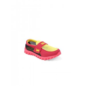 Lilliput Boys Yellow & Red Colourblocked Regular Sneakers
