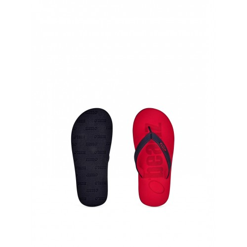 Beanz Boys Navy & Red Printed Flip-Flops