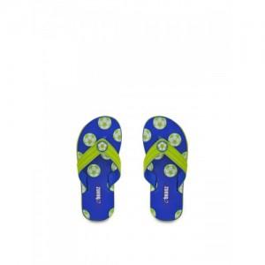 9ca219dea6e8 Beanz Beanz Boy s SoCer Royal Blue Flip-Flops and House Slippers - 13Kids  UK