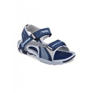 Beanz Boys Navy & Grey Melange Sandals