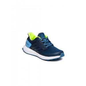 Adidas Navy Blue Synthetic Mesh Rapidarun Running Shoes