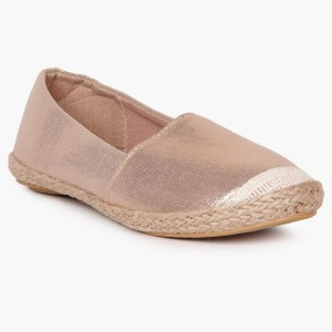 FAME FOREVER Rose Gold Synthetic Slip-On Bellies