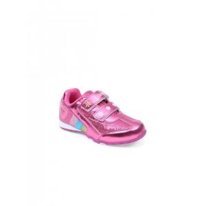 Lilliput Pink PU Regular Styling Casual Shoes