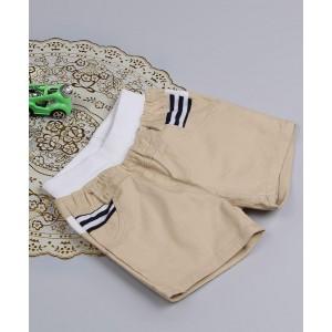 Aww Hunnie Patch Work Summer Shorts - Beige