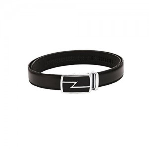 Pacific Gold Black Double stitch spanish Leather Belt