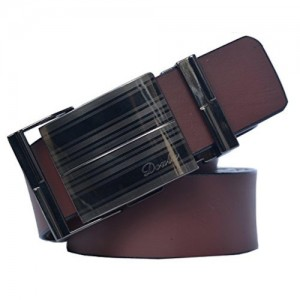 Sunshopping Brown Non Leather Belt with auto Lock Buckle